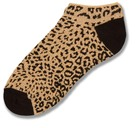 Leopard Print No Show Sock