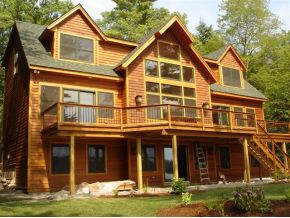 Open Concept Adirondack. NEW Winnipesaukee Real Estate Listing 05/01/2013: Adirondack home with an open concept!  Perfect measures of rustic flavor and luxury! Home is to be built on a 2.35 acre lot with 665 feet of Winnipesaukee waterfront! (Subject to state and town approvals.)  Privacy, sandy beach and a peaceful location all in low tax Moultonborough, NH can be yours!  3 level home can includes 3 bedrooms and a  sunny, walk-out lower level for a game room and bonus room. Call Nicole for details. (603) 707-7575